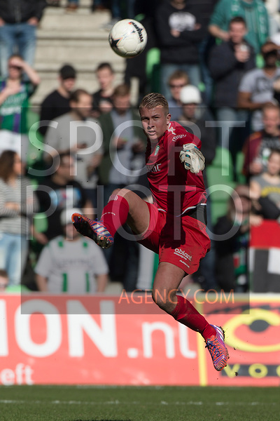 (L-R), Sergio Padt of FC Groningen,