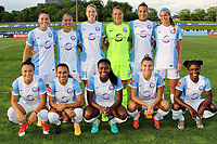 Piscataway, NJ - Saturday May 27, 2017: Orlando Pride starting eleven before a regular season National Women's Soccer League (NWSL) match between Sky Blue FC and the Orlando Pride at Yurcak Field.  Sky Blue FC defeated the Orlando Pride, 2-1.