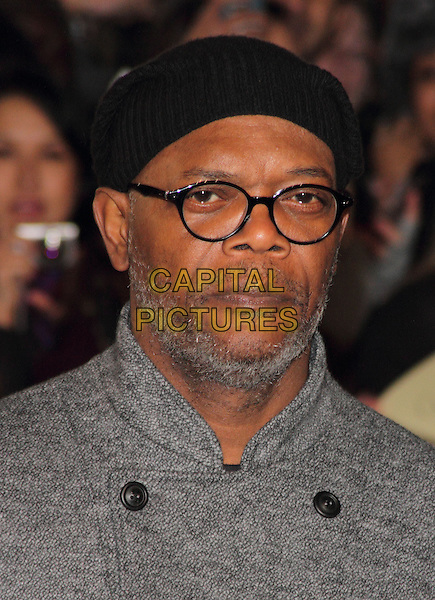 Samuel L. Jackson.The UK Premiere of 'Django Unchained', Empire Leicester Square, London, England..January 10th 2013.headshot portrait black grey gray cap hat glasses beard facial hair .CAP/ROS.©Steve Ross/Capital Pictures