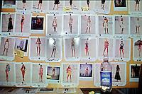 polaroid modelle, sfilata Ferrè,