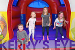 Family Fun Day : Having fun in the bouncing Castle at the family fun day at Con Brosnan GAA pitch, Moyvane on Sunday last were Lucy Kissane, Mollie & Maddie O'Riordan & Maibh Ahern.