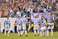 East Rutherford, NJ - Sunday June 26, 2016: Argentina  during a Copa America Centenario finals match between Argentina (ARG) and Chile (CHI) at MetLife Stadium.