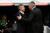 22.02.201a SPAIN -  La Liga 13/14 Matchday 25th  match played between Real Madrid CF vs Elche at Santiago Bernabeu stadium. The picture show Carlo Ancelotti coach of Real Madrid