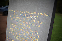 memorial to the late Jean Stablinski: father of the modern (cobbled) Paris-Roubaix <br /> <br /> 2014 Paris - Roubaix reconnaissance