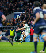 7th December 2017, Twickenham Stadium, London, England; The Varsity Match, Cambridge versus Oxford;  Mike Phillips attempts the conversion to Chris Bell's try for Cambridge in the 31st minute