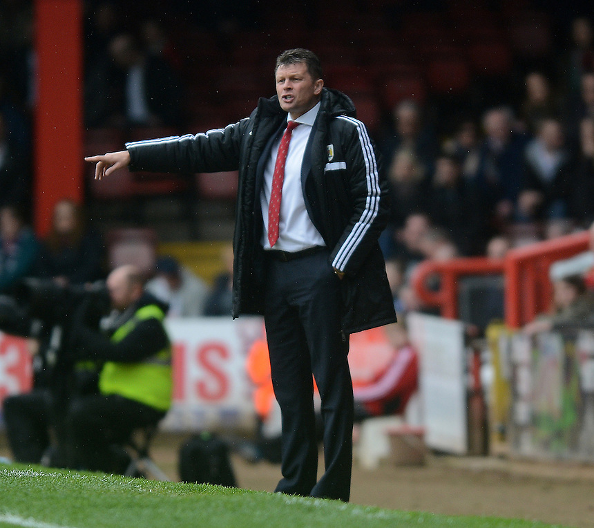 Bristol City's Manager Steve Cotterill during the game<br /> <br /> Photo by Ian Cook/CameraSport<br /> <br /> Football - The Football League Sky Bet League One - Bristol City v Preston North End - Saturday 5th April 2014 - Ashton Gate - Bristol<br /> <br /> &copy; CameraSport - 43 Linden Ave. Countesthorpe. Leicester. England. LE8 5PG - Tel: +44 (0) 116 277 4147 - admin@camerasport.com - www.camerasport.com