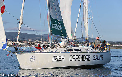 Ronan O'Siochru Irish Offshore Sailing School's Sunfast 37 Photo: Afloat