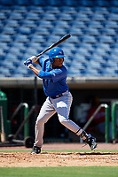 Toronto Blue Jays right fielder DJ Daniels (27) at bat during a Florida Instructional League game against the Philadelphia Phillies on September 24, 2018 at Spectrum Field in Clearwater, Florida.  (Mike Janes/Four Seam Images)