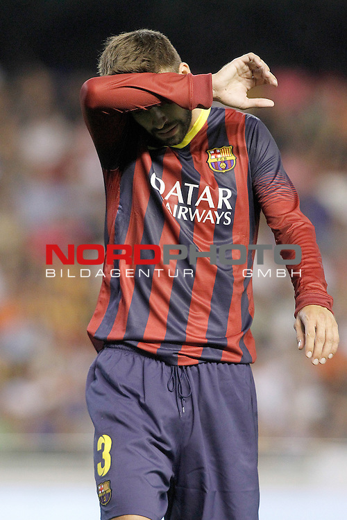 FC Barcelona's Gerard Pique during La Liga match.September 1,2013. Foto © nph / Acero)