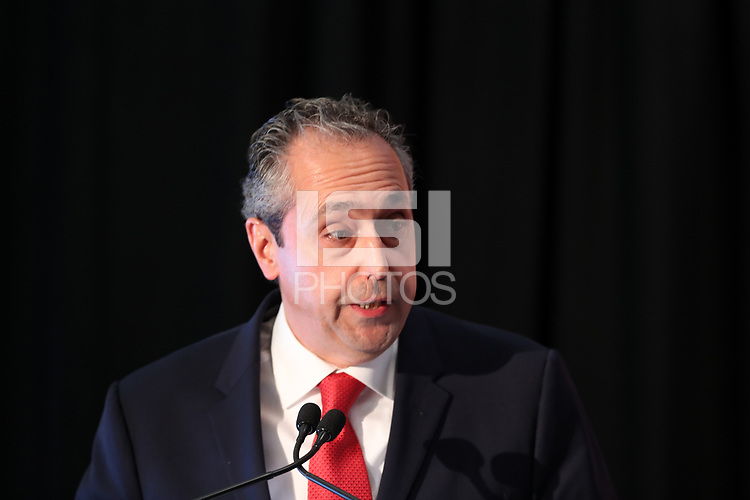 Toronto, Ontario - Saturday December 09, 2017: Peter Montopoli, Canada's bid director for the 2026 World Cup bid. The United Bid for 2026 FIFA World Cup Presentation to Media was held at the Westin Harbour Castle - Harbour Ballroom.