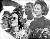Washington, D.C. - January 31, 2006 -- Coretta Scott King has passed away in Atlanta, Georgia at age 78.  This file photo, taken in Washington, D.C.  on May 12, 1968 shows Mrs. Martin Luther King (Coretta Scott), left, and Mrs. Robert F. Kennedy (Ethel), right, together as they join the first contingent of the Poor People's March to arrive in the Nation's Capital.  Earlier the welfare mothers marched through Washington to kick-off the march that Dr. King conceived before he was assassinated in Memphis, Tennessee on April 4, 1968.  This photo was taken less than a month before United States Senator Robert F. Kennedy (Democrat of New York) was shot in Los Angeles, California on June 5, 1968..Credit: Arnie Sachs / CNP