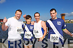 from left Tom Boyle, Tammy Curtin, Billy Lucy and Damien Murphy pictured at the Rose of Tralee International 10k Race in Tralee on Sunday.