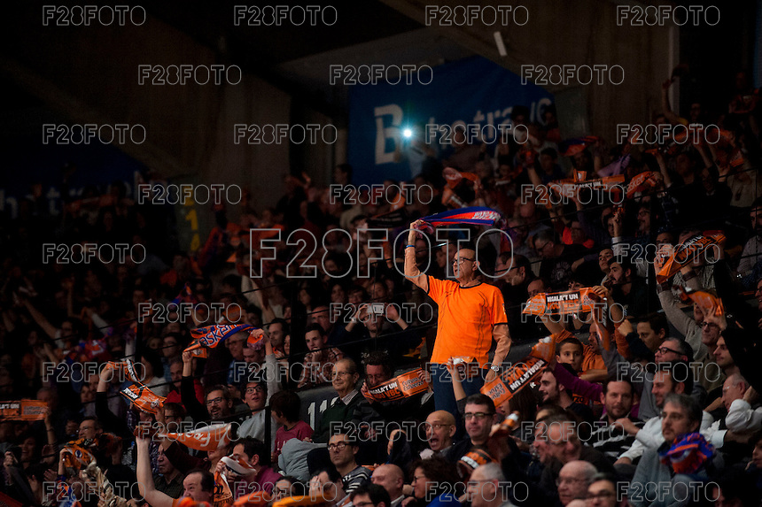 VALENCIA, SPAIN - JANUARY 6: Valencia fan during EUROCUP match between Valencia Basket and PAOK Thessaloniki at Fonteta Stadium on January 6, 2015 in Valencia, Spain