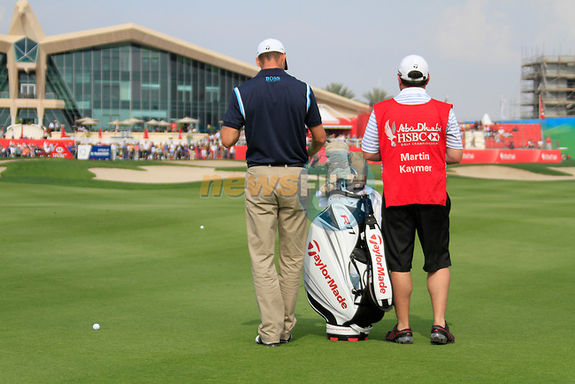 Martin Kaymer waits to play his 2nd shot on the 9th hole during Day 3 Saturday of the Abu Dhabi HSBC Golf Championship, 22nd January 2011..(Picture Eoin Clarke/www.golffile.ie)