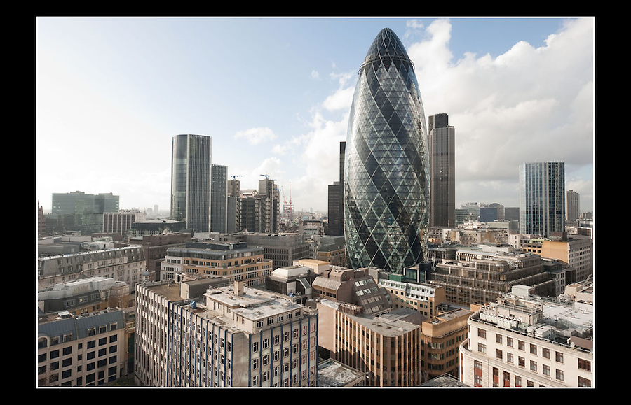 The Gherkin (Completed 2003) - 30 St Mary Axe - London