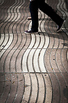 Walking on the Rambla, Barcelona, Catalonia, Spain.