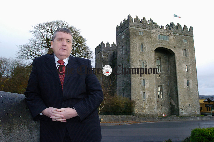 Deputy Pat Breen, T.D.  Fine Gael who has launched a survey on Clare Tourism. Photograph by John Kelly.