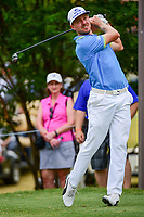 Jonas Blixt (SWE) watches his tee shot on 7 during round 2 of the Dean &amp; Deluca Invitational, at The Colonial, Ft. Worth, Texas, USA. 5/26/2017.<br /> Picture: Golffile | Ken Murray<br /> <br /> <br /> All photo usage must carry mandatory copyright credit (&copy; Golffile | Ken Murray)