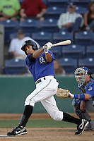 Gabe Jacobo of the Rancho Cucamonga Quakes during game against the Inland Empire 66'ers at The Epicenter in Rancho Cucamonga,California on August 7, 2010. Photo by Larry Goren/Four Seam Images