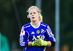 Solna 2015-10-11 Fotboll Damallsvenskan AIK - FC Roseng&aring;rd :  <br /> AIK:s m&aring;lvakt Britta Elsert Gynning under matchen mellan AIK och FC Roseng&aring;rd <br /> (Foto: Kenta J&ouml;nsson) Nyckelord:  Damallsvenskan Allsvenskan Dam Damer Damfotboll Skytteholm Skytteholms IP AIK Gnaget  FC Roseng&aring;rd portr&auml;tt portrait