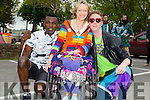 Issa Olwengo,Ali Keane and Liam Cronin enjoying the Kerry Pride Parade on Saturday