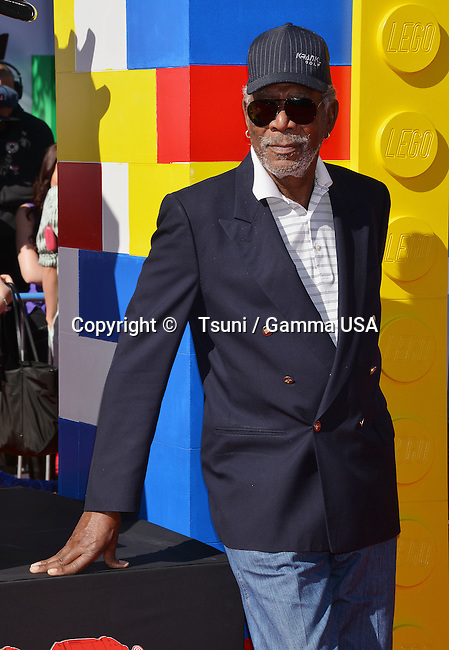Morgan Freeman 130 arriving at The Lego Movie Premiere at the Westwood Village Theatre in Los Angeles.
