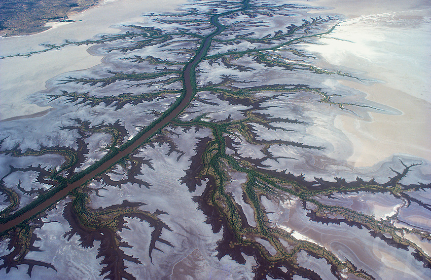 Patterns - Aerial of northern Coastal flood plains, Norther Territory, Australia