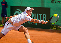 The Hague, Netherlands, 11 June, 2017, Tennis, Play-Offs Competition, Maxime Authom, Leimonias<br /> Photo: Henk Koster/tennisimages.com