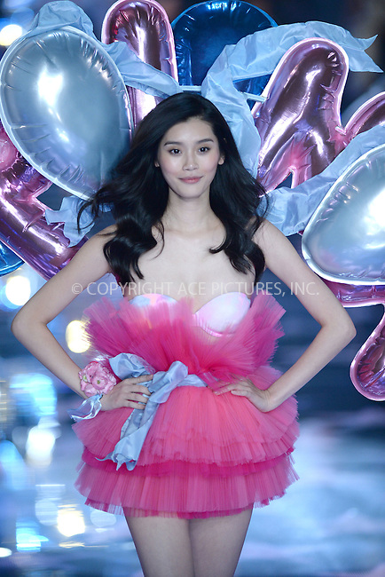 WWW.ACEPIXS.COM<br /> November 10, 2015 New York City<br /> <br /> Ming Xi walking the runway at the 2015 Victoria's Secret Fashion Show at Lexington Avenue Armory on November 10, 2015 in New York City.<br /> <br /> Credit: Kristin Callahan/ACE<br /> Tel: (646) 769 0430<br /> e-mail: info@acepixs.com<br /> web: http://www.acepixs.com