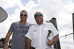 Sean Carrigan and boat Captain Rodger -  Actors from Y&R, General Hospital and Days donated their time to Southwest Florida 16th Annual SOAPFEST at the Cruisin' and Schmoozin' Marco Island Princess in Marco Island, Florida on May 24, 2015 - a celebrity weekend May 22 thru May 25, 2015 benefitting the Arts for Kids and children with special needs and ITC - Island Theatre Co.  (Photos by Sue Coflin/Max Photos)