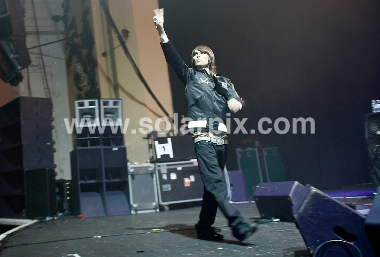 **ALL ROUND PICTURES FROM SOLARPIX.COM**.*WORLDWIDE RIGHTS*.Ian Brown performing live in concert at Carling Brixton Academy, London. 29th November 2007..JOB REF: 5424 SHO   DATE: 29_11_2007.**MUST CREDIT SOLARPIX.COM OR DOUBLE FEE WILL BE CHARGED* *UNDER NO CIRCUMSTANCES IS THIS IMAGE TO BE REPRODUCED FOR ANY ONLINE EDITION WITHOUT PRIOR PERMISSION*