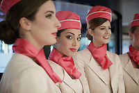 hostesses at the Grande Partenza in Apeldoorn (NLD): team presentation of the 99th Giro d'Italia 2016 on the evening before the 1st stage
