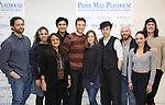 "Colin Hanlon, Tatiana Wechsler, Natalie Toro, Paolo Montalban, Claybourne Elder, Hannah Elless, Bryce Pinkham, Jacob Keith Watson, Belinda Allyn and Conor Ryan during the meet the cast photo call for the Paper Mill Playhouse production of  ""Benny & Joon"" at Baza Dance Studios on 3/21/2019 in New York City."