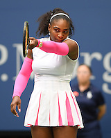 FLUSHING NY- SEPTEMBER 05: Serena Williams reaches 308th Grand Slam win against Vs Yaroslavl Shvedova on Arthur Ashe Stadium at the USTA Billie Jean King National Tennis Center on September 5, 2016 in Flushing Queens. Credit: mpi04/MediaPunch