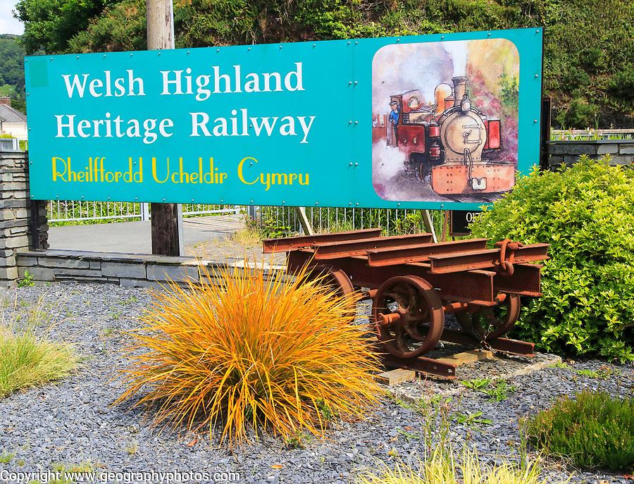 Welsh Highland Heritage Railway, Porthmadog, Gwynedd, north west Wales, UK