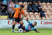 a Wycombe Wanderers trialist and /Antonis Vasiliou of Barnet during Barnet vs Wycombe Wanderers, Friendly Match Football at the Hive Stadium on 13th July 2019