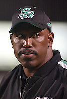 Danny Barrett Saskatchewan Roughriders head coach 2003. Photo copyright Scott Grant.