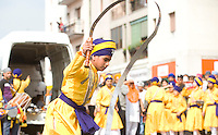 FESTA DEL BAISAKHI NELLA FOTO SIKH IN CORTEO PEOPLE 16/04/2011 FOTO MATTEO BIATTA<br /> <br /> BAISAKHI FEST IN THE PICTURE SIKH IN PROCESSION PEOPLE 16/04/2011 PHOTO BY MATTEO BIATTA