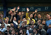 9th September 2017, Goodison Park, Liverpool, England; EPL Premier League Football, Everton versus Tottenham; Spurs fans taunt the home fans as they take a 0-3 lead early in the second half
