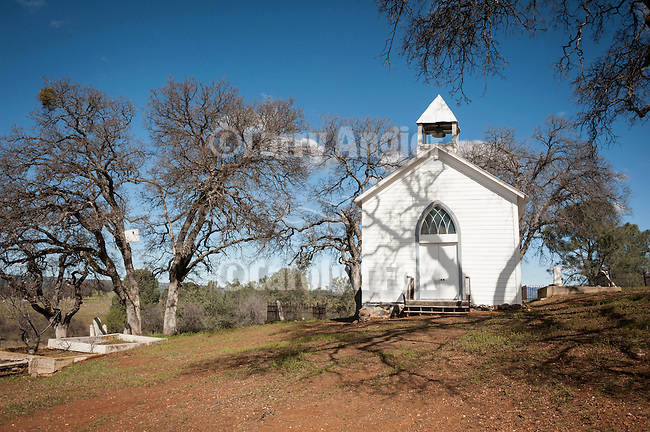 St. Xavier Catholic Church and cemetery, Chinese Camp, Calif...Established 1855.