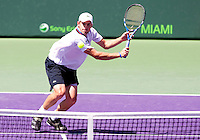 Andy RODDICK (USA) against Rafael NADAL (ESP) in the semi-finals of the man's singles. Andy Roddick beat Rafael Nadal 4-6 6-3 6-3 ..International Tennis - 2010 ATP World Tour - Sony Ericsson Open - Crandon Park Tennis Center - Key Biscayne - Miami - Florida - USA - Fri 2 Apr 2010..© Frey - Amn Images, Level 1, Barry House, 20-22 Worple Road, London, SW19 4DH, UK .Tel - +44 20 8947 0100.Fax -+44 20 8947 0117