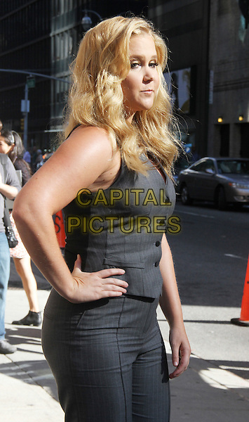 New York NY Sept 11: Amy Schumer at the Late Show with Stephen Colbert at the Ed Sullivan Theatre in New York City on September 11 2015  <br /> CAP/MPI/RW<br /> &copy;RW/MPI/Capital Pictures