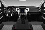 Stock photo of straight dashboard view of a 2018 Toyota Tundra TRD Sport Crew Cab 4 Door Pick Up
