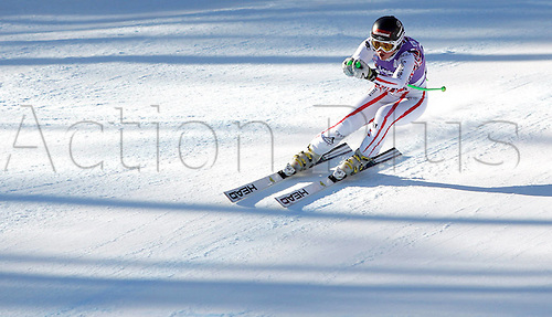 13.01.2012 Cortina D Ampezzo, Italy. The Ski Alpine FIS World Cup Downhill Training for women Picture shows Elisabeth Goergl AUT
