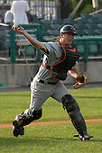 August 16, 2003:  Brian Bock of the Aberdeen Ironbirds, Class-A affiliate of the Baltimore Orioles, during a game at Falcon Park in Auburn, NY.  Photo by:  Mike Janes/Four Seam Images