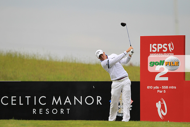 Alexander Noren (SWE) tees off on the 2nd tee during Thursday's Round 1 of the ISPS Handa Wales Open presented by The Celtic Manor Resort, Newport, Wales, 31st May 2012 (Photo Eoin Clarke/www.golffile.ie)