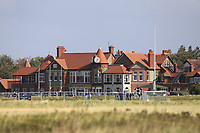 The club house during the preview round at the Walker Cup, Royal Liverpool Golf CLub, Hoylake, Cheshire, England. 06/09/2019.<br /> Picture Thos Caffrey / Golffile.ie<br /> <br /> All photo usage must carry mandatory copyright credit (© Golffile | Thos Caffrey)