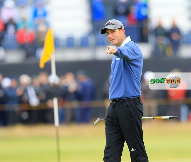 David HOWELL (ENG) at the 15th green during Sunday's Round 3 of the 144th Open Championship, St Andrews Old Course, St Andrews, Fife, Scotland. 19/07/2015.<br /> Picture Eoin Clarke, www.golffile.ie