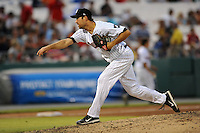 Birmingham Barons pitcher Ryan Kussmaul #34 delivers a pitch during the Southern League All-Star Game  at Smokies Park on June 19, 2012 in Kodak, Tennessee.  The South Division defeated the North Division 6-2. (Tony Farlow/Four Seam Images).