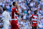 Roberto Soldado of Granada CF during La Liga match between Real Madrid and Granada CF at Santiago Bernabeu Stadium in Madrid, Spain. October 05, 2019. (ALTERPHOTOS/A. Perez Meca)